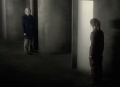 Screenshot of Clara and the 1st Doctor