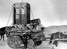 A view of the Tardis from Marco Polo episode